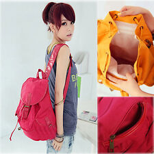 Fashion Cute Vintage Canvas Shoulder bags School Book Backpack For Womens Girls