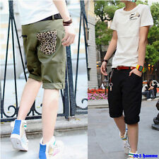 Korean Stylish New Fashion Mens Slim Fit Casual Cropped Trousers Short Pants