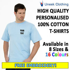 NEW Personalised Uneek Embroidered T Shirts, Workwear, Customised T shirts UC301