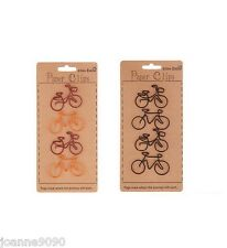 4x BICYCLE BIKE PAPERCLIPS CRAFT HOME DECORATION OFFICE CLIPS STATIONERY GIFT