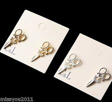 New Fashion personality Lovely small scissors earrings EA116