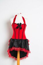 Saloon Girl Red  burlesque Moulin Rouge Ladies Fancy Dress costume 6 8 10 12