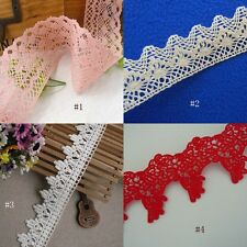 2' - 3'' Wide Lovely Floral Venise Cotton Lace Pink,  Ivory, Red