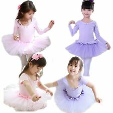 Girls Dancewear Gymnastics Ballet Tutu Dance Dress Leotard 3-8Y Skating Costume