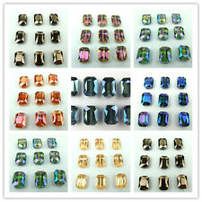 New 10x14mm Faceted Glass Crystal Charm Finding Loose Beads color chioce