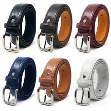 """MENS LEATHER LINED 30MM SUIT TROUSER BELT IN 6 COLOURS WAIST SIZE XL 40"""" NWT"""