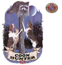 COON HUNTER, Hunting Dogs, Raccoon, Dixie, Confederate, New T-Shirt
