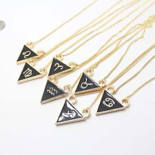 """24"""" Personality Trendy Triangle Constellation Sign Women Choker Necklace 8 Color"""