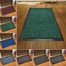 HOME OFFICE HEAVY DUTY RIBBED BARRIER MATS NON SLIP RUBBER BACK PVC DOORMATS