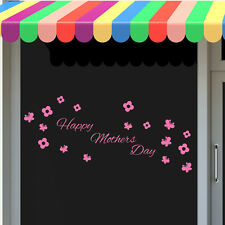 Mothers Day 2 Shop Window Sticker Restaurant Florist Decal Transfer Decorations