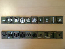 Multicam MTP Velcro Backed Rank Badges For UBACS - Lance Corporal to Colonel.