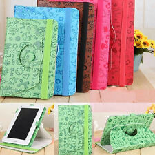"""Cartoon 9""""inch 360°Rotating Folio PU Leather Case Cover Stand for Tablet Android"""