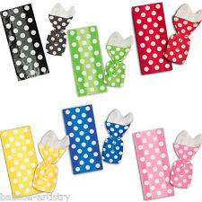 20 Polka Dot Spot Spotty Birthday Supplies Loot Gift Party Bags with Twist Ties