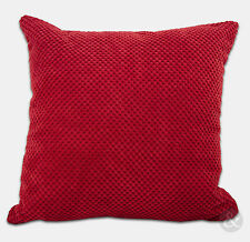 Chenille Cushion Covers - Red Super Soft Small & Large Cushions
