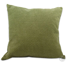 Chenille Cushion Covers - Green Soft Small & Large Cushions
