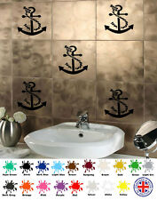 Anchor Stickers x6 - Vinyl Wall Sticker Art For Tiles Bathroom, Kitchen