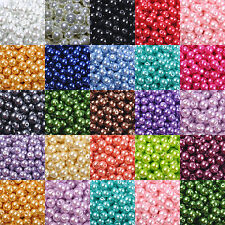 100pcs Top Quality Czech GLASS PEARL Round Loose BEADS Choose - 4MM 6MM 8MM 10MM
