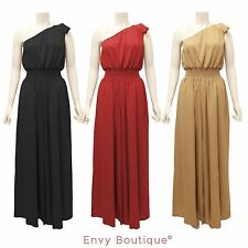 NEW LADIES ONE SHOULDER PALAZZO WIDE LEG JUMPSUIT EVENING DRESS WOMENS TOP 8-14