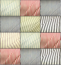 ☆Cowes Striped Cotton Designer Curtain - Blue,Lilac,Green,Grey,Red £17.00 mt☆