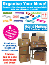 Labels For Packing Boxes & Furniture - Colour Coded Stickers  Removable Adhesive