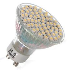 Lampadina LED GU10 60 led 3528 smd 220V 4.5W bianco puro/caldo LED faretto NEW