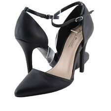 Women's Shoes Anne Michelle Momentum 49 D'Orsay Pointed Toe Pumps Black *New*