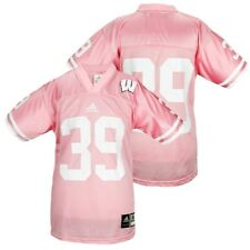 Adidas NCAA College Youth Wisconsin Badgers # 39 Football Jersey, Pink