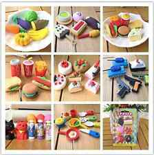13Style Children's Pencil Rubber Eraser Food Toys Set Stationery Student Rewards