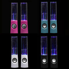 USB LED Light Dancing Water Show Speaker Music for PC Laptop MP3 Phone