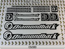 "15 Set DIAMONDBACK Decals Stickers Frames Bicycles 11"" COLORS Available A57C"