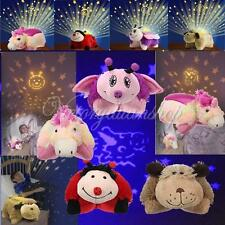 Dream Lites Kids Toy Cuddly Animal Cuddle Pet Pillow Cushion Stars Night Lights