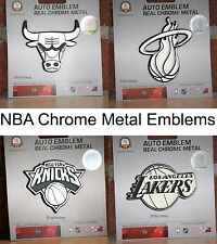 NBA Chrome Metal Auto Car Truck SUV Emblem Insignia Logo - 10 Teams Available