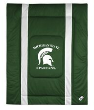 MICHIGAN STATE SPARTANS SIDELINES COMFORTER AND PILLOW SHAM - 19-0447-19-0467