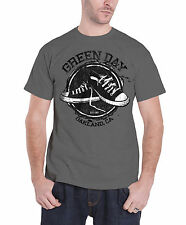 Green Day Converse Shoes Est 1987 Official Mens New Grey T Shirt