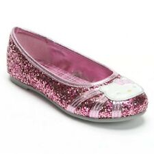 HELLO KITTY BALLET Girl's Toddler Pink Glitter Loafers Slip on Flats Shoes