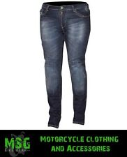 ROUTE ONE BLUE OLIVIA CLASSIC DENIM KEVLAR CE ARMOURED LADIES MOTORCYCLE JEANS