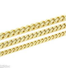 "Mens Cuban Curb Gold Plated Smooth Chain Necklace 24"" Inch (6mm 8mm 10mm)"