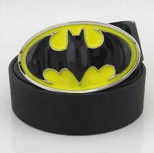 Fashion New 3D Yellow Black Batman Superhero Western Mens Metal Belt Buckle