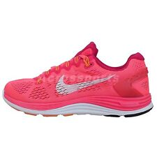 Nike Wmns Lunarglide 5 V Crimson Pink 2014 New Womens Running Shoes Runner Lunar