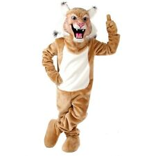 Wildcat or Bobcat Professional Quality Mascot Costume Adult Size - Tan or Gray