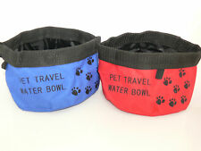 Pet Dog Cat Bowl Water Food Fold Up Portable Travel Waterproof