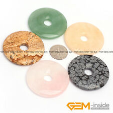 Natural Assorted Stones 40mm Donut Beads For Pendant Earring Making 1 Piece