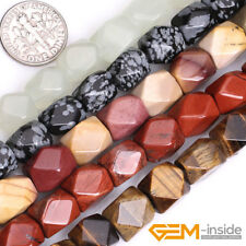 "Natural Assorted Stones Freeform Polygonal Beads For Jewelry Making 15"" 8X11mm"
