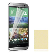 1x 2x Ultra Clear HD LCD Screen Protector for HTC ONE 2 M8 & Cleaning Cloth Lot