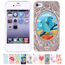 CHEAP Sweet Cute Patterns Snap Protective Skins Case Cover For Apple iPhone 4/4S