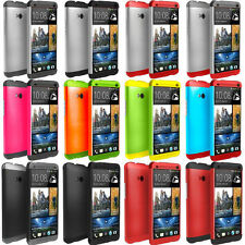 Tri-color Double Dip Genuine Hard Plastic Shell Case Covers Skin For HTC ONE M7
