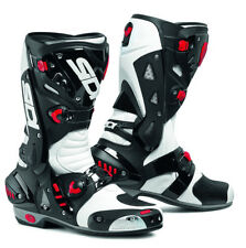 SIDI VORTICE WHITE/BLACK MOTORCYCLE SPORTS RACE BOOTS