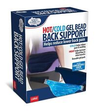 Gel Bead Lower Back Support Hot Cold Pain Swelling Relax Muscles Wrap Microwave