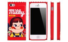 Fujiya Milky Wrapper-Style For iPhone 4/4s/5/5s Case Peko-Chan cute Candy lovers