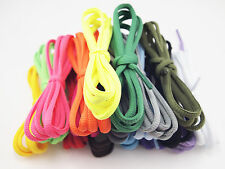 """2 Pairs *** Neon Coloured Oval Shoe Laces Trainer Boot Laces 110cm 43"""""""